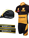 Cycling BIB Suits with Cap and Arm Warmers(Yellow and Black)