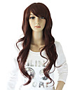 Capless Long Chestnut Brown Wavy Fashionable Hair Wig