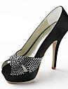 Women's Wedding Shoes Heels/Peep Toe/Platform Heels Wedding Black/Blue/Pink/Red/Ivory/White/Silver