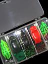 5 pcs Leurre souple / Kits de leurre / leurres de pêche Kits de leurre / Leurre souple / Grenouille Vert / Rouge / Vert foncé g Once mm