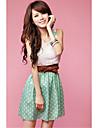 Kontrastfarbe ärmellose Kleid Frauen dodesign Damen