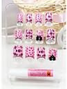 härliga rosa falska nagel konst tips