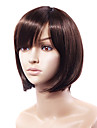 Capless Fashion Short Wavy Brown Human Hair Wig