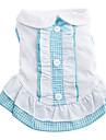 Chien Robe Bleu / Incanardin Vêtements pour Chien Printemps/Automne Tartan Mode
