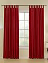 Två paneler Fönster Behandling Modern , Rand Dining Room Polyester/Bomull Blandning Material Hem-dekoration For Fönster