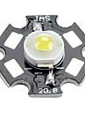 Epistar 6000-6500K 3W 170-190lm 700mAh vit LED lampa med aluminiumplåt (3,4-3.8V)