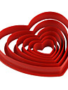 Moule de Cuisson Cœur Pour Gâteau Pour Cookie Pour Tarte Plastique La Saint Valentin Bricolage Ecologique