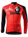 spakct-professionella 100% polyester för män låg resistans cykel jersey (röd)