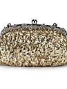 fantastiska satin med paljetter och kristaller kväll handväska / kopplingar (fler färger)