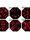 ongles timbre d'art estampage modèle de plaque d'image qa série