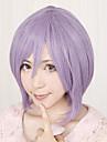 Perruques de Cosplay Bonne étoile Hiiragi Tsukasa Violet Court Anime Perruques de Cosplay 32 CM Fibre résistante à la chaleur Féminin