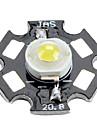 6000-6500K 1W 100-110lm 350mAh blanc conduit ampoule avec une plaque d'aluminium (3,0-3.4v)