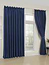 deux panneaux modernes solides chambre bleue rideaux à panneaux de rayonne opaques