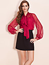 TS Dramatic Puff Sleeve Chiffon Blouse Shirt