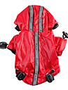 Dog Raincoats-XS/S/M/L/XL-Spring/Fall-Black/Red-Hooded