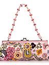 Elegant Bomuld med Multicolor vulst Evening Handbag / Clutches (Flere farver)