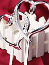 Vârfuri de Tort Nepersonalizat Inimi Rășină Argintiu Temă Clasică OPP