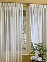 Deux Panneaux Le traitement de fenêtre Moderne , Solide Mélange Lin/Coton Matériel Rideaux opaques Décoration d'intérieur For Fenêtre