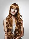 sem capa longas de alta qualidade sintéticas cabelo encaracolado cores múltiplas disponíveis peruca