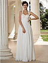 Lanting Bride® A-line Petite / Plus Sizes Wedding Dress - Classic & Timeless / Chic & Modern Floor-length Halter Chiffon withSequin /