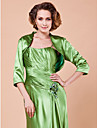 Gorgeous 3/4-Length Sleeve Satin Special Occasion Jacket/Wedding Wrap(More Colors)