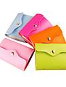 candy färg PU läder kort fall väska (slumpmässig färg)