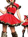Costumes de Cosplay Costume de Soirée Conte de Fée Fête / Célébration Déguisement d'Halloween Rouge Mosaïque Manteau Robe Ceinture