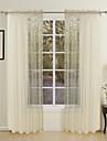 moderna två paneler fast guld vardagsrum polyester rena gardiner shades