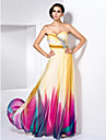TS Couture Prom / Formal Evening Dress - Print Plus Sizes / Petite Sheath/Column Sweetheart / Strapless Floor-length Chiffon