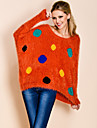TS Cute Colorful Polka Dots Loose Sweater