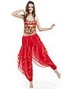 Belly Dance Outfits Women's Performance Chiffon Beading / Coins Black / Blue / Fuchsia / Green / Pink / Purple / Red / YellowBelly Dance