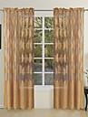 en panel land lämnar jacquard ren gardiner draperier
