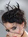 Femei Pană Tul Diadema-Nuntă Ocazie specială Pălărioare