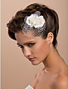 Women's Tulle Headpiece-Wedding Special Occasion Casual Outdoor Fascinators Flowers