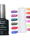 15ml ormskinn mönster nagellack färgglada gel