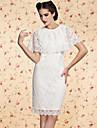 ts vintage sjal blonder kjole