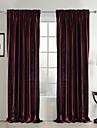 Deux Panneaux Le traitement de fenêtre Néoclassique , Solide Chambre à coucher Polyester Matériel Rideaux Tentures Décoration d'intérieur