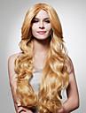 capless long lumière dorée perruque cheveux bruns bouclés (0479-jf-3)