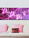 floral toile horloge murale ensemble moderne de 3