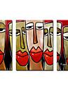 peints à la main peinture à l'huile gens ensemble surdimensionné gamme de 3