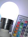 E26/E27 Bulb LED Glob G45 5 LED Putere Mare 450 lm RGB Telecomandă AC 100-240 V