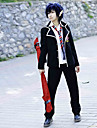 Inspirerad av Blue Exorcist Rin Okumura Animé Cosplay Kostymer/Dräkter cosplay Suits / Skoluniformer Enfärgat Svart Lång ärmKappa /