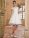 ELEONOR - Bröllopsklänning av Organza och Spets