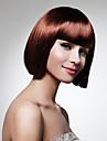 capless curto bob brown bater peruca sintética completa