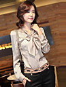 Women's Stand Neck Bow Blouse Shirt