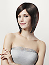 Capless Short Bob Black 100% Huamn Hair Wig Side Bang