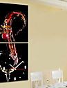 modern stil vintema väggklocka i canvas uppsättning av 2