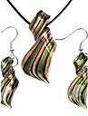 Raționalizarea model colorate Glaze Olive Vaidurya colier și cercei