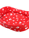 Thickened Dog's Paw Pattern Pet Bed (Red,XS-XL)