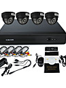 4 Channel CCTV DVR Kit(4 Indoor IR Camera,4 Channel Full D1 Recording)